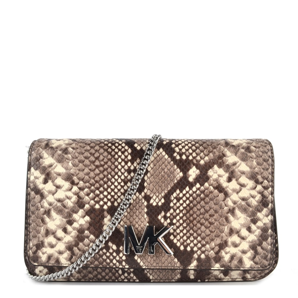 8a818871ab99 MICHAEL by Michael Kors Mott Python Effect Large Clutch Bag