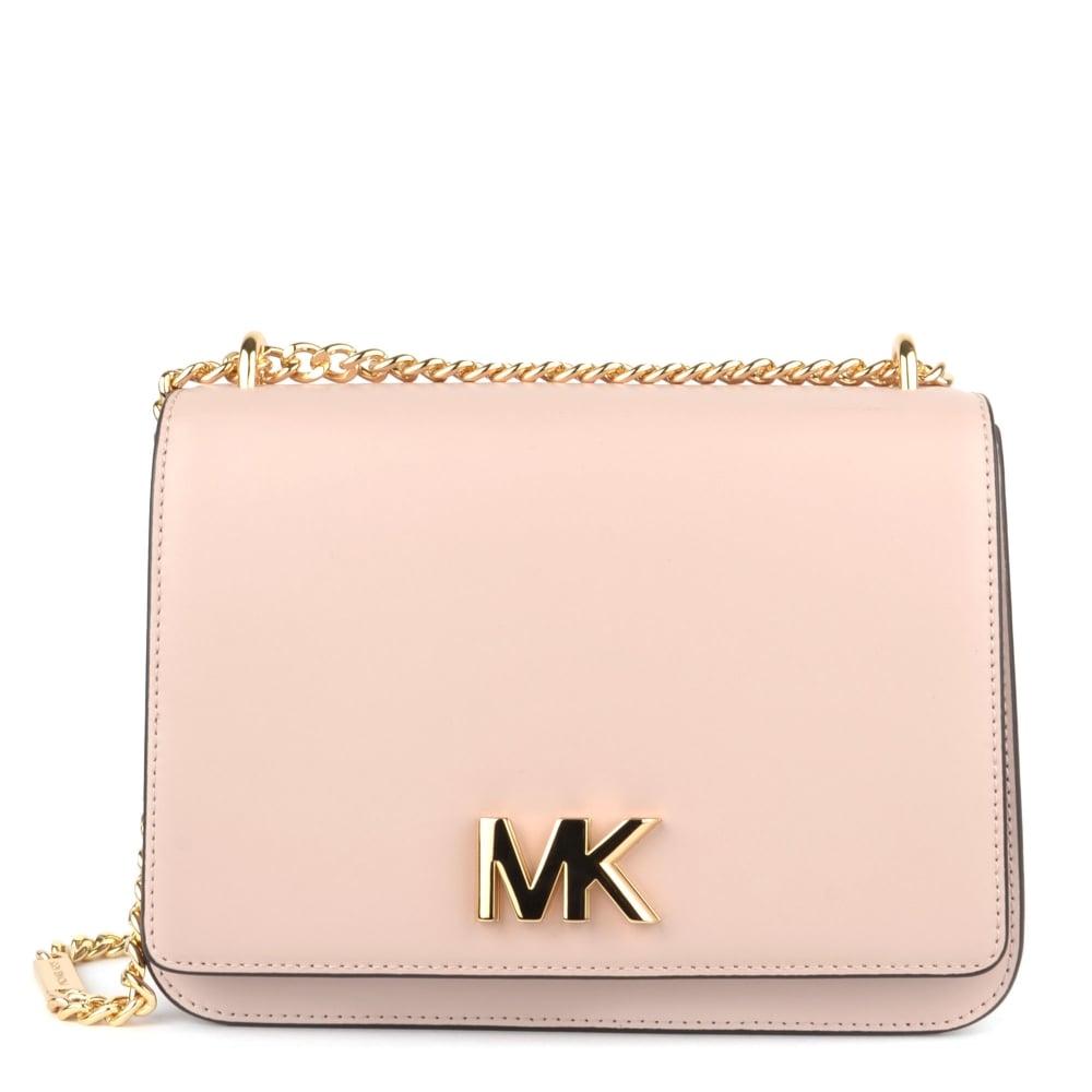 cc71bba2a0e5 MICHAEL by Michael Kors Mott Soft Pink Large Chain Shoulder Bag ...