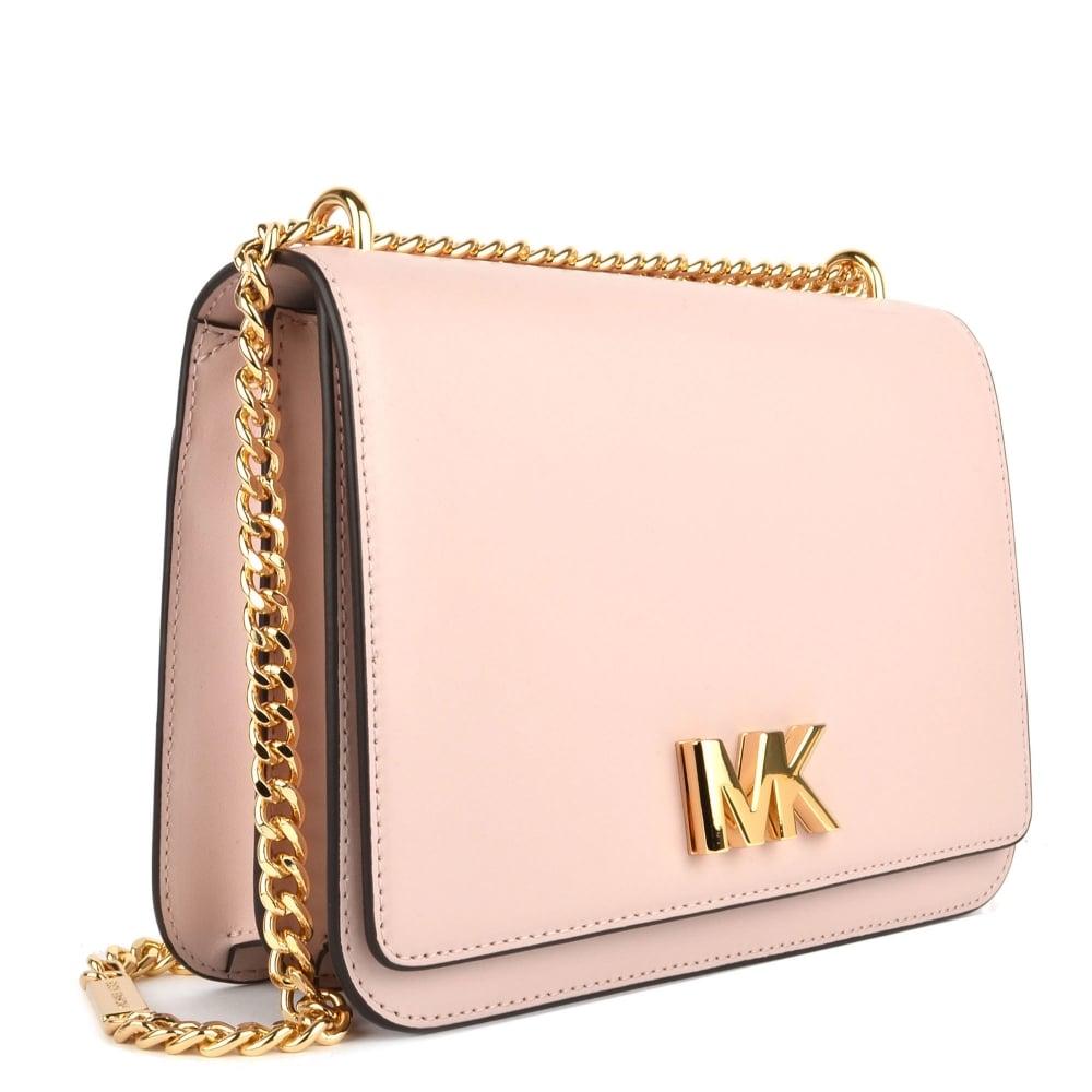 d715651a7299 MICHAEL by Michael Kors Mott Soft Pink Large Chain Shoulder Bag ...