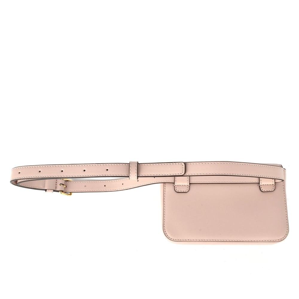 2bc5f5523eb2f MICHAEL Michael Kors Mott Soft Pink Leather Belt Bag