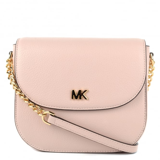 MICHAEL by Michael Kors Mott Soft Pink Leather Dome Crossbody