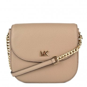 Mott Truffle Leather Dome Crossbody