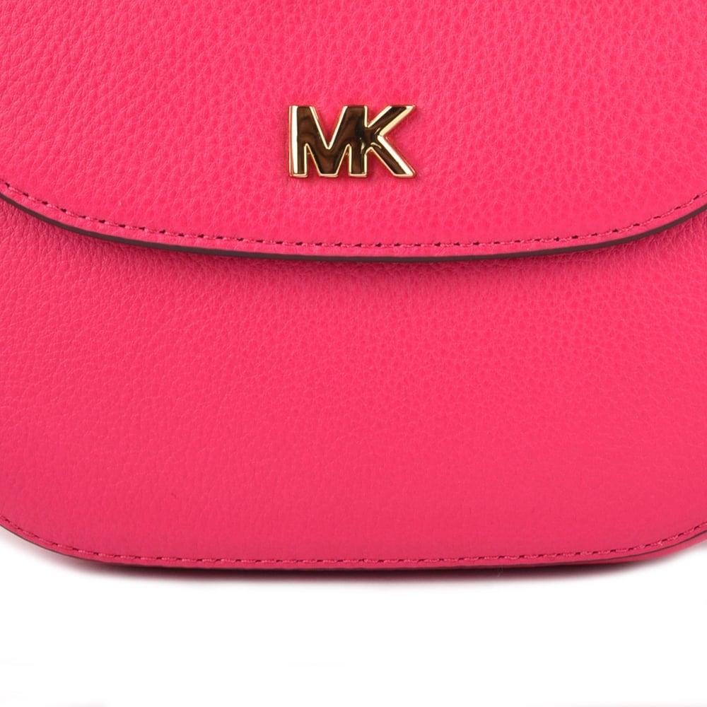 3d68374cd713 MICHAEL Michael Kors Mott Ultra Pink Leather Dome Crossbody