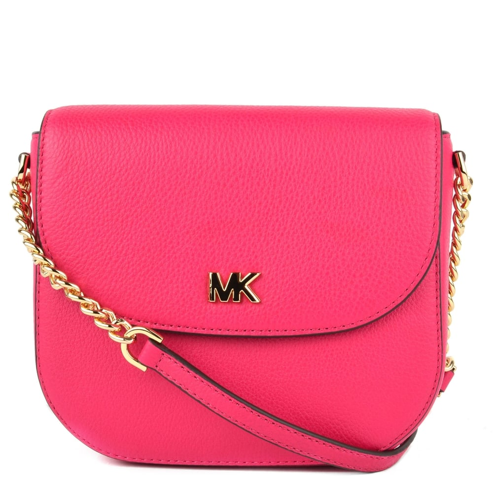 a7b7c24d84ed MICHAEL by Michael Kors Mott Ultra Pink Leather Dome Crossbody