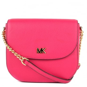 Mott Ultra Pink Leather Dome Crossbody