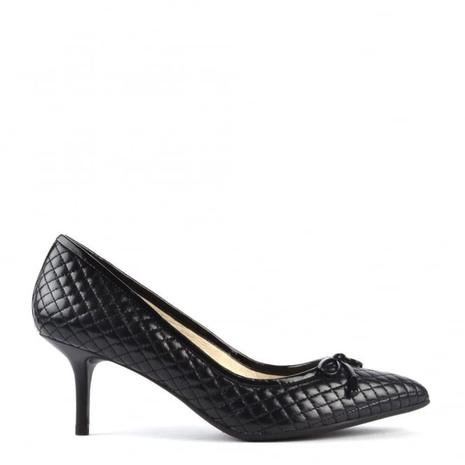 MICHAEL by Michael Kors Nancy Black Quilted Mid Pump