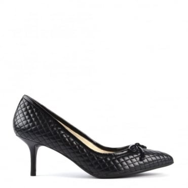 Nancy Black Quilted Mid Pump