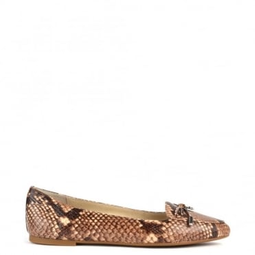 Nancy Python Embossed Flat