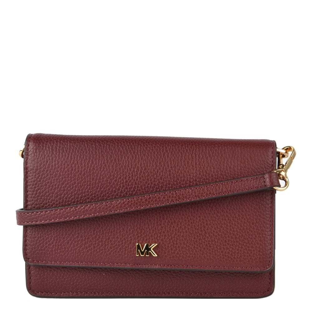 578ed9f33392 MICHAEL by Michael Kors Oxblood Leather Convertible Crossbody Bag