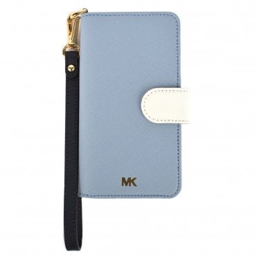 Pale Blue Leather Phone 7/8 Case