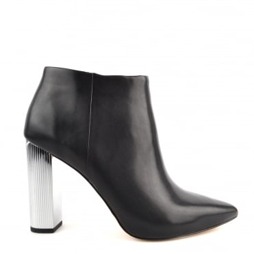 Paloma Black Leather Bootie
