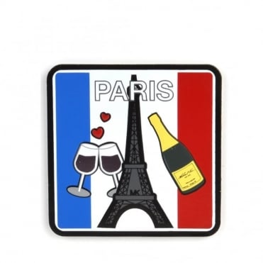 Paris City Leather Sticker