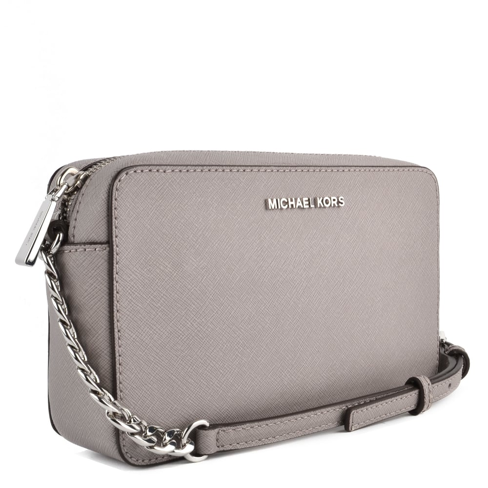 e461e7808e37 MICHAEL MICHAEL KORS Pearl Grey Medium Leather Crossbody Bag