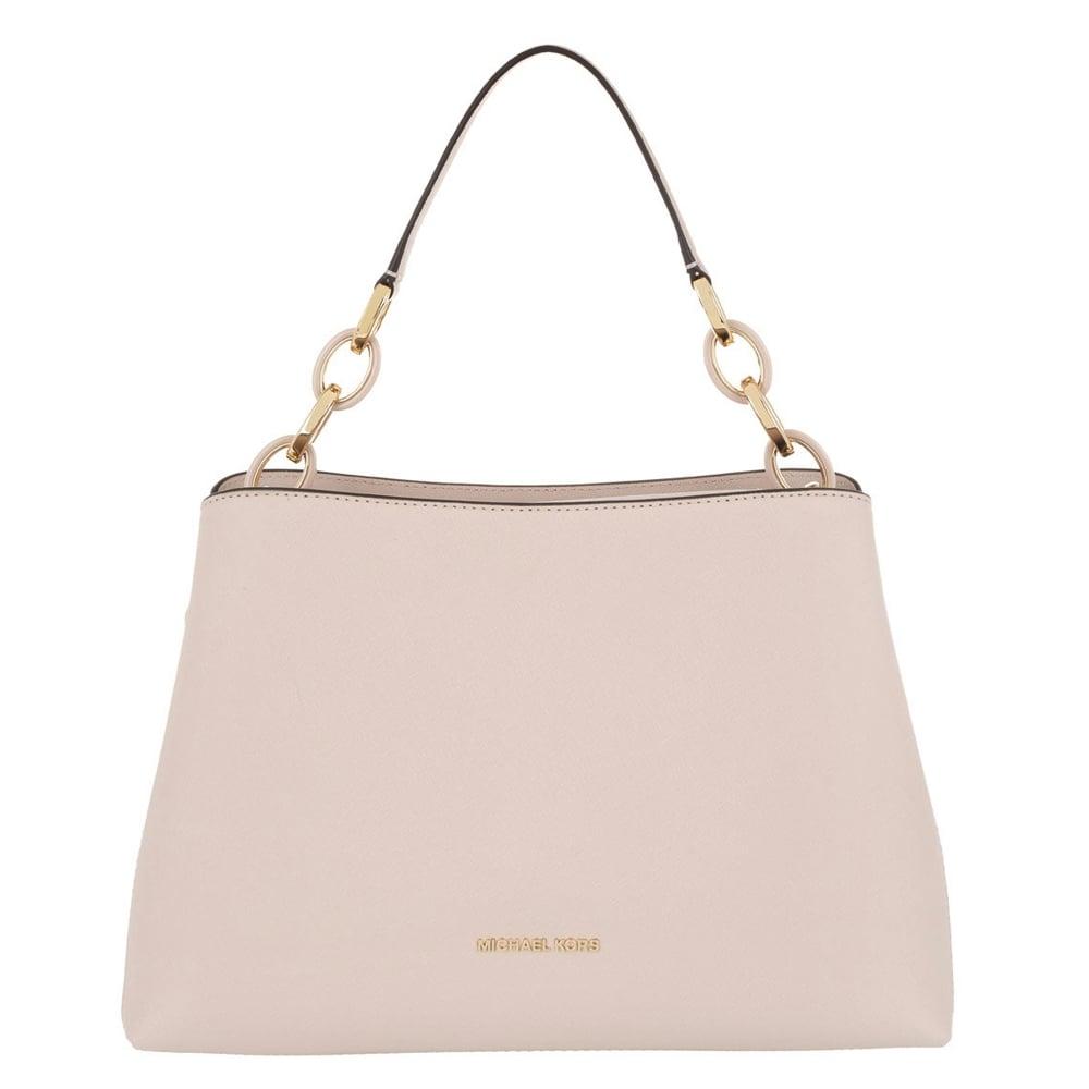 MICHAEL by Michael Kors Portia Soft Pink Large Leather Shoulder Bag 3cf72118e1