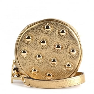 Pouches Pale Gold Studded Coin Purse