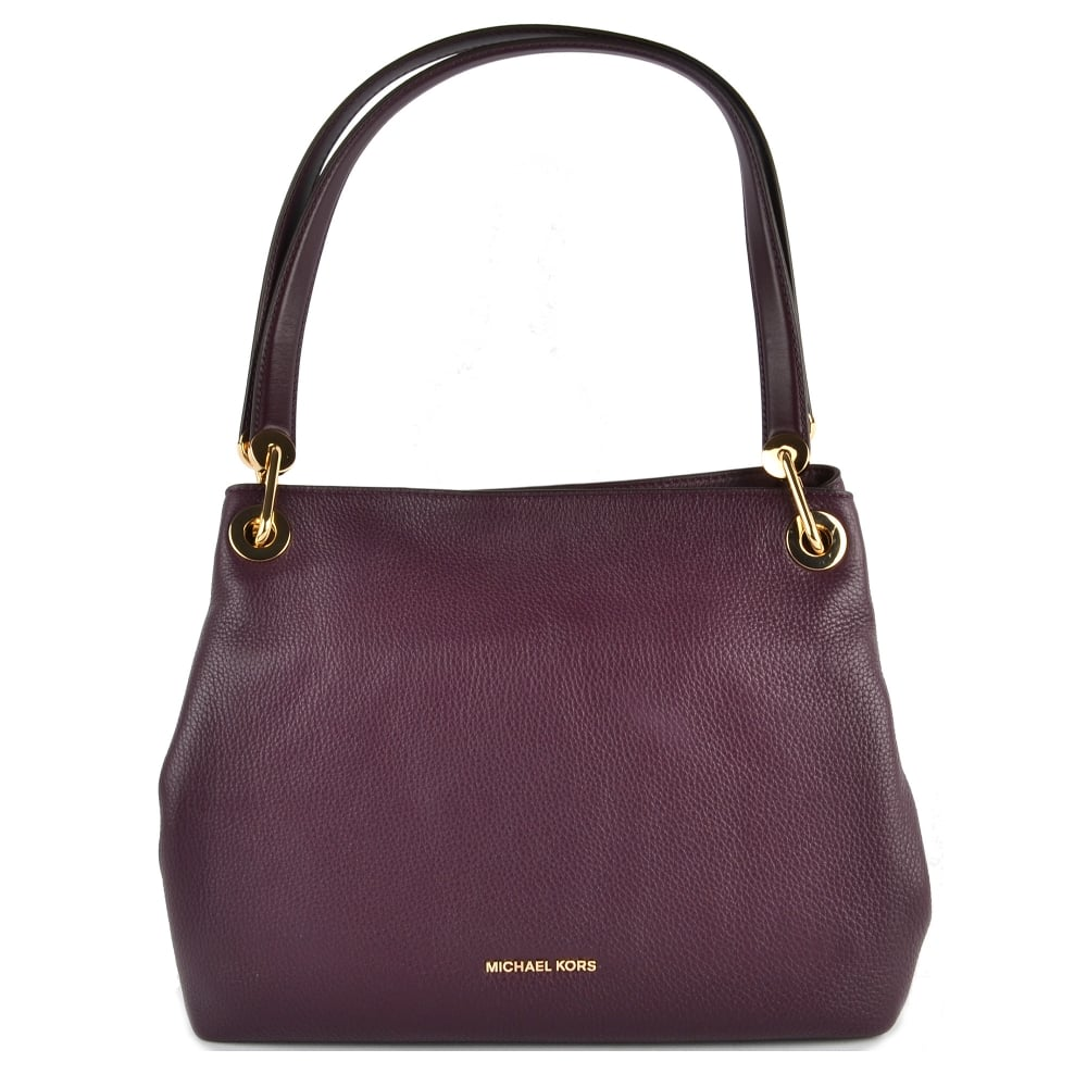 97356863a95178 MICHAEL by Michael Kors Raven Damson 'Plum' Large Shoulder Tote Bag