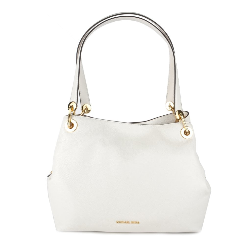 d0853d7e490d MICHAEL by Michael Kors Raven Optic White Large Leather Shoulder Bag