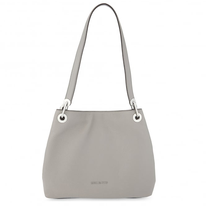MICHAEL by Michael Kors Raven Pearl Grey Large Shoulder Tote