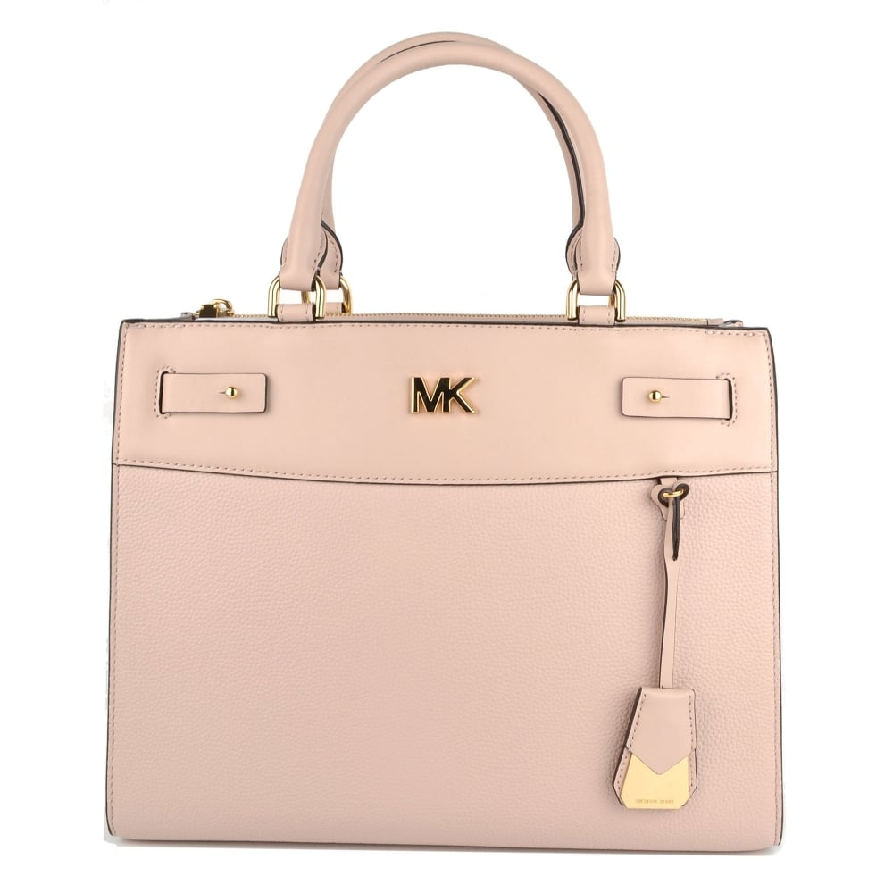 3c410bf02f57 MICHAEL by Michael Kors Reagan Soft Pink Leather Large Satchel