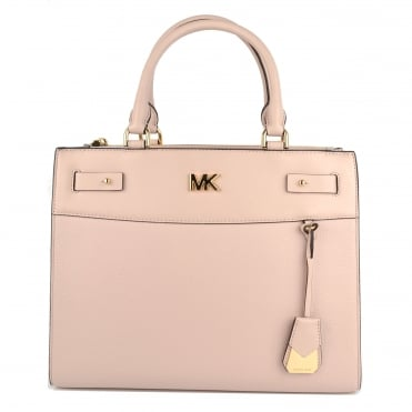 Reagan Soft Pink Leather Large Satchel