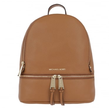 Rhea Acorn Leather Medium Backpack