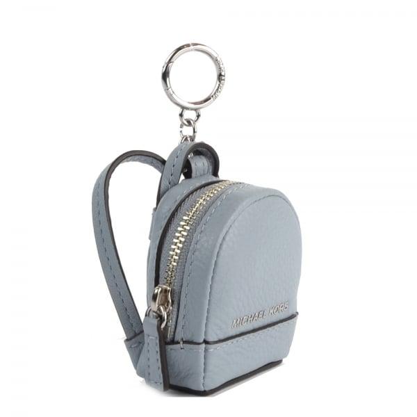 716c3bcc57ac7b MICHAEL by Michael Kors Rhea Backpack Dusty Blue Keyring Charm