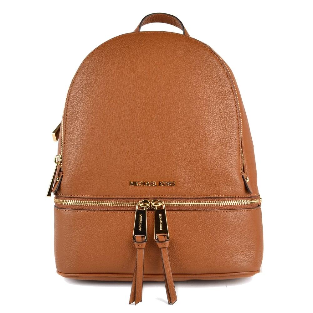 7176ab89200af MICHAEL by Michael Kors Rhea Luggage  Tan  Back Pack