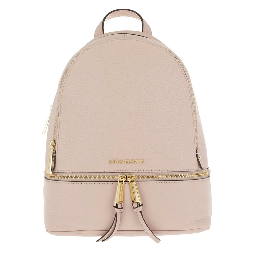 michael michael kors rhea soft pink leather medium backpack rh brandboudoir com