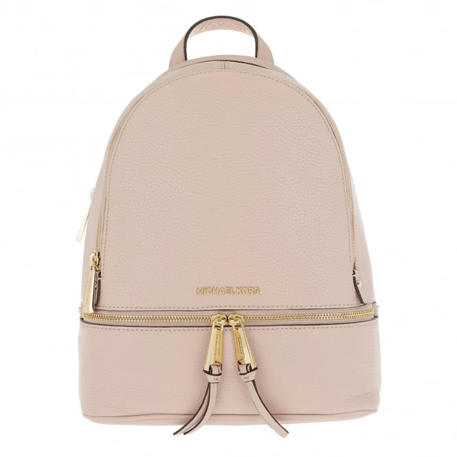 MICHAEL by Michael Kors Rhea Soft Pink Leather Medium Backpack