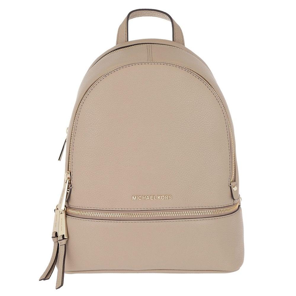 michael michael kors rhea truffle leather medium backpack rh brandboudoir com