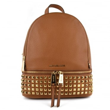 Rhea Zip Acorn Gold Studded Medium Backpack