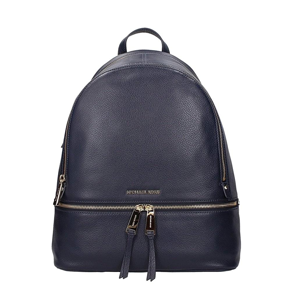 28a203dd6627 MICHAEL by Michael Kors Rhea Zip Admiral 'Navy' Leather Medium Backpack