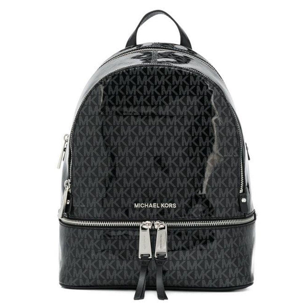 615f3d603591a5 MICHAEL by Michael Kors Rhea Zip Black Monogram Medium Backpack ...