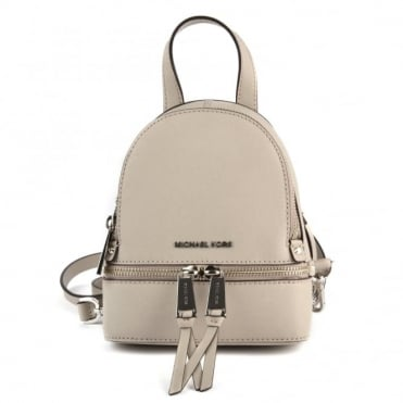 Rhea Zip Cement Extra Small Messenger Backpack