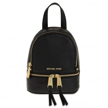 Rhea Zip Extra Small Black Backpack