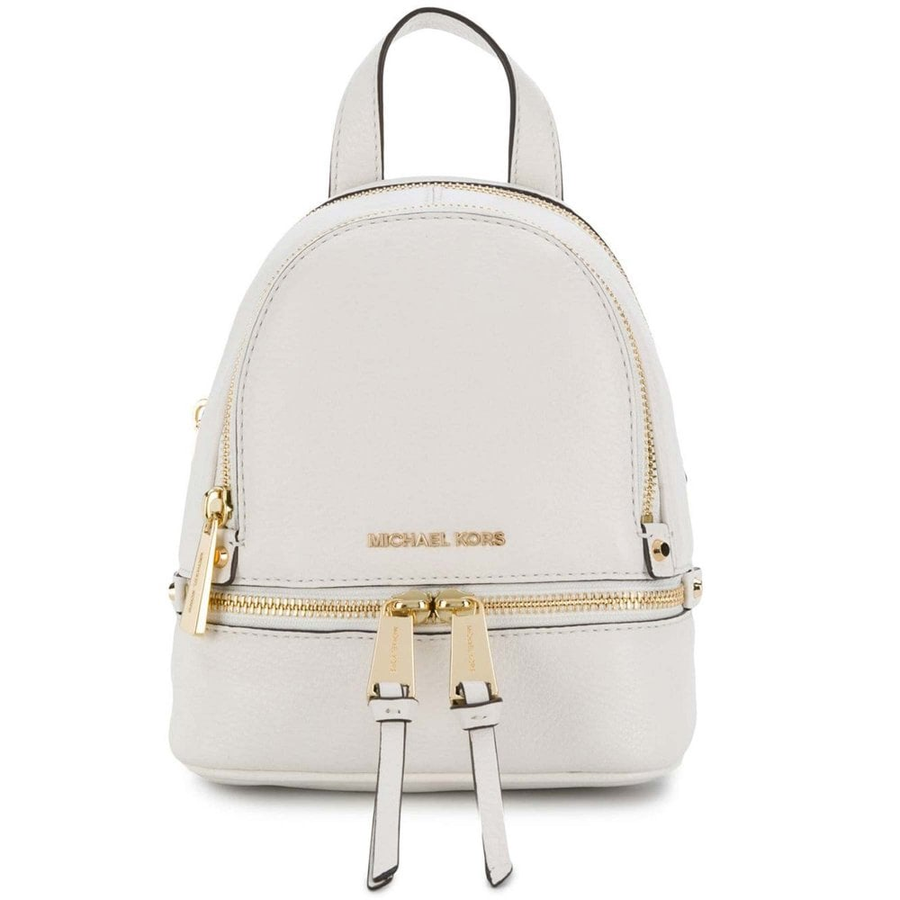 f39a05fa161 MICHAEL by Michael Kors Rhea Zip Extra Small Optic White Backpack