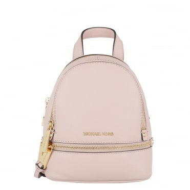 Rhea Zip Extra Small Soft Pink Backpack
