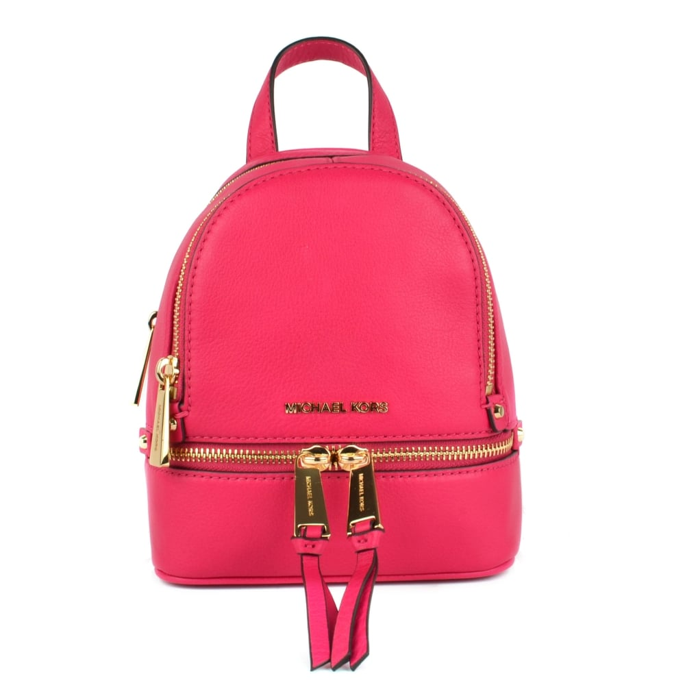 775305cec059 MICHAEL by Michael Kors Rhea Zip Extra Small Ultra Pink Backpack