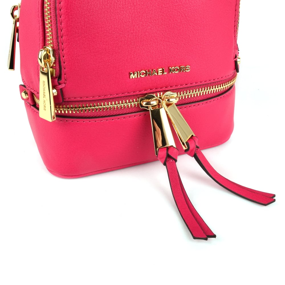 54b59ea15472 MICHAEL MICHAEL KORS Rhea Zip Extra Small Ultra Pink Backpack