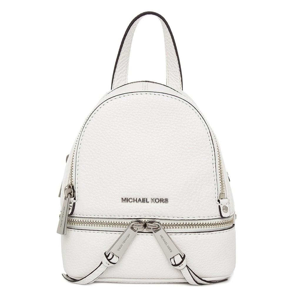 49b69feb12e2 MICHAEL by Michael Kors Rhea Zip Optic White Messenger Backpack