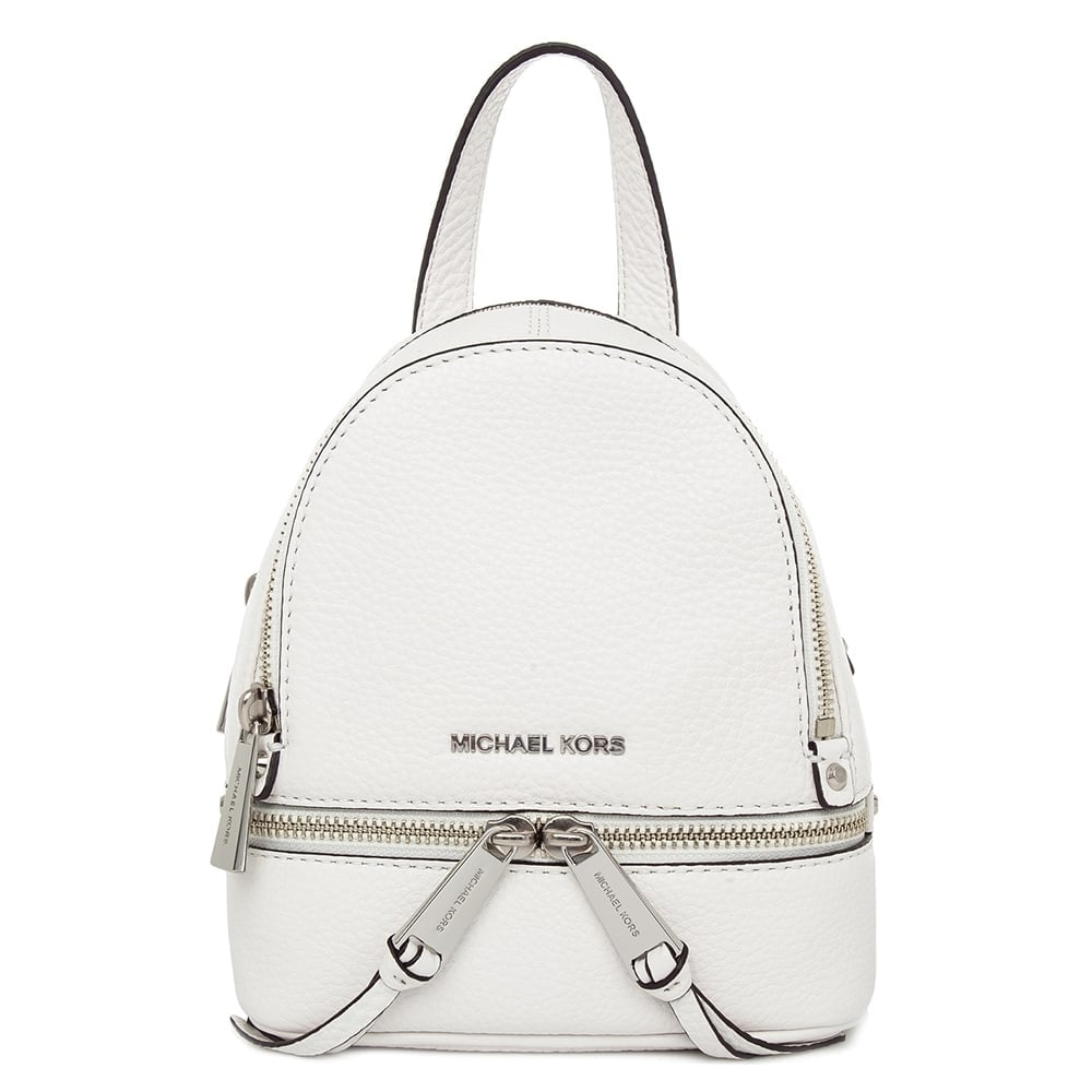 MICHAEL by Michael Kors Rhea Zip Optic White Messenger Backpack ab11758c19f9b