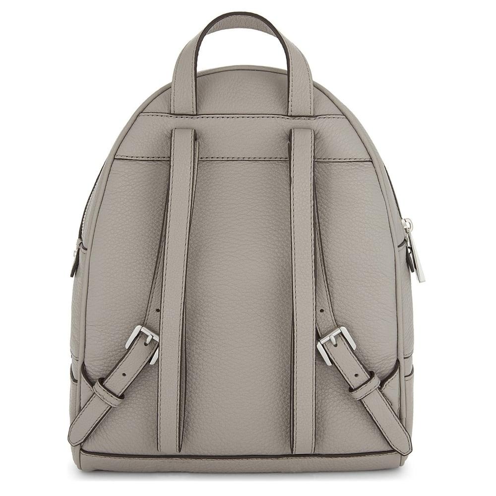 5941b3b86a14 MICHAEL by Michael Kors Rhea Zip Pearl Grey Leather Backpack