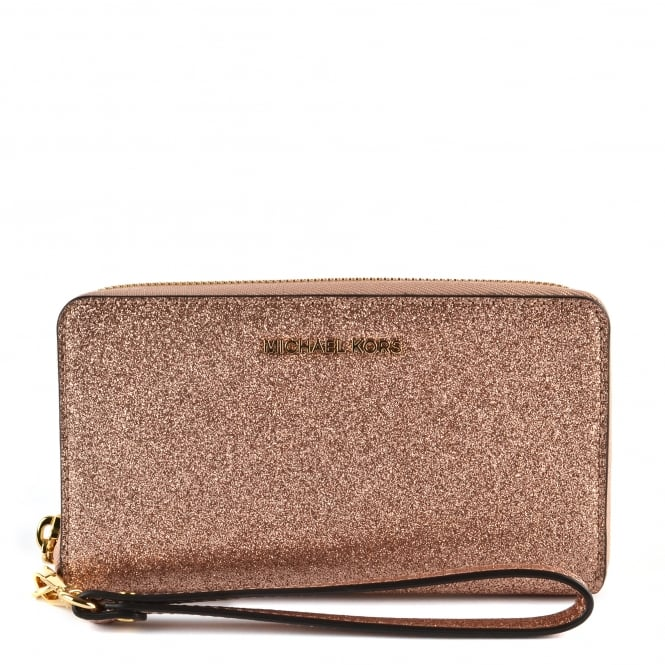 MICHAEL by Michael Kors Rose Gold Large Phone Case Wristlet