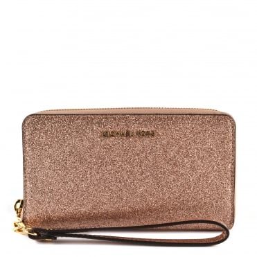 Rose Gold Large Phone Case Wristlet