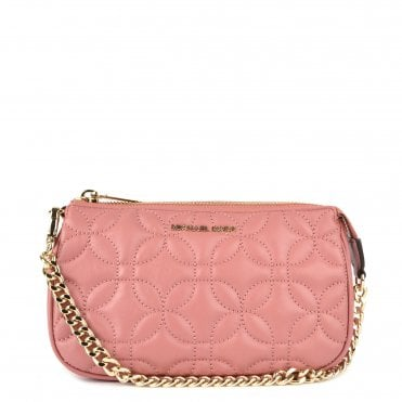 dc258bcd9fc4 MICHAEL MICHAEL KORS Rose Medium Floral Quilted Leather Chain Pouch