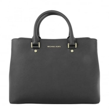 Savannah Large Black Satchel