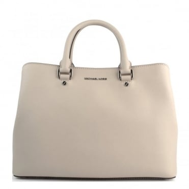 Savannah Large Cement 'Beige' Satchel