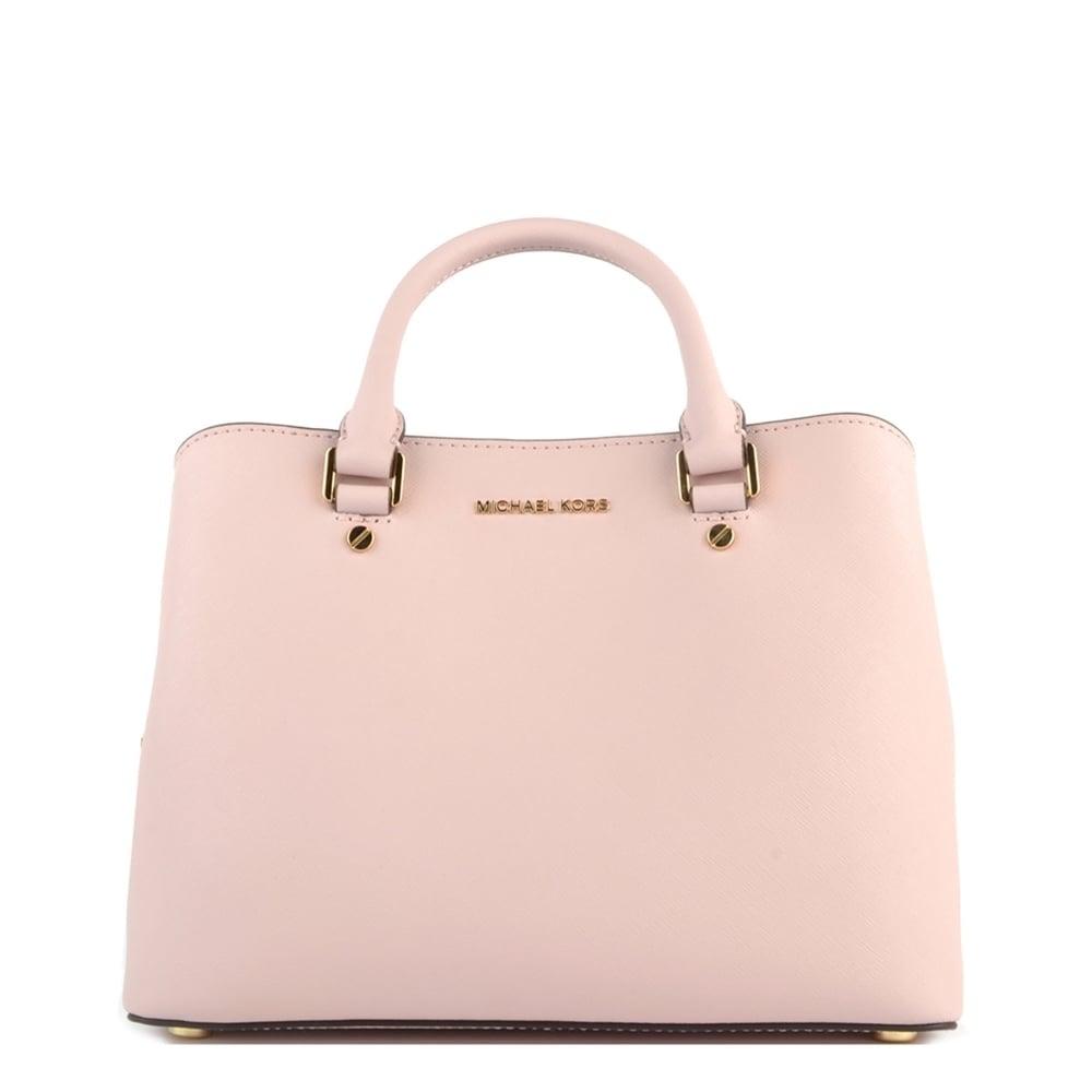 86774ce8a4c6 MICHAEL Michael Kors Savannah Medium Blossom  Pink  Satchel