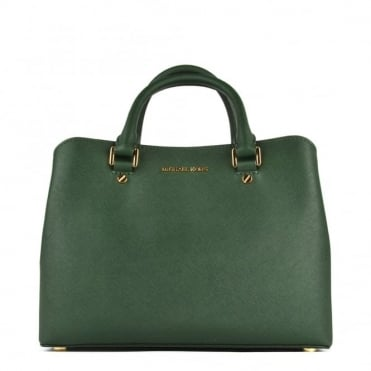 Savannah Moss 'Green' Medium Satchel