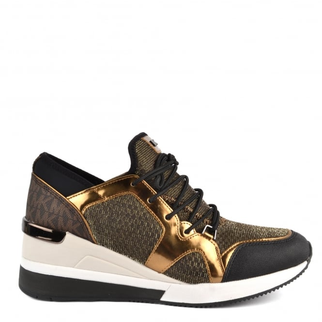 MICHAEL by Michael Kors Scout Bronze Mesh and Logo Trainer